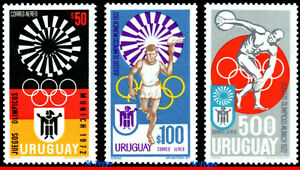 C382-84 URUGUAY 1972 MUNICH OLYMPIC GAMES, SPORTS, SET MNH