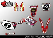 TO FIT HONDA CRF 250 2005-2007  CUSTOM GRAPHICS KIT STICKERS MOTOCROSS MX DECALS