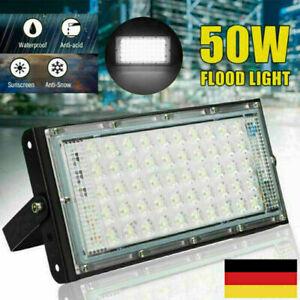 50W LED Baustrahler Flutlicht Strahler Scheinwerfer Fluter Arbeitsleuchte IP65 W