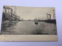AK Alte Karte Bremerhaven Kaiserhafen Dampfer ca. 1906