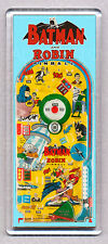 BATMAN and ROBIN pinball bagatelle WIDE FRIDGE MAGNET - CLASSIC TOY MEMORIES!