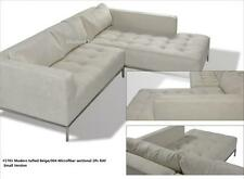 2PC Modern Fabric tufted Sectional Sofa #1701 in beige (Large version)
