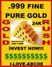 Mint Genuine / Real / Pure 1-GRAIN 24K SOLID GOLD BULLION MINTED BAR 0.999 FINE