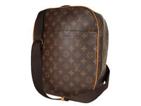 LOUIS VUITTON Packall Sac A Dos Monogram Canvas Leather Crossbody Shoulder Bag