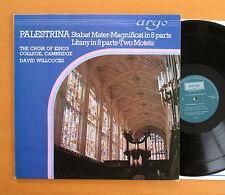 ZK 4 Palestrina Stabat Mater Magnificat King's College Willcocks Argo Stereo NM