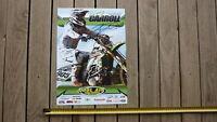 TROY CARROLL HAND SIGNED KAWASAKI MOTORCYCLE RACING PROMO POSTER