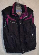 HARD CORPS Unisex Black/Burgandy Full Zipper Ski Vest Jacket Coat - Size Large