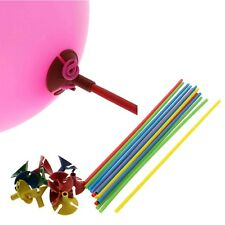 Multicolor Plastic Balloon Prop Rod Holder Sticks Cup Prom Party Decoration X 10