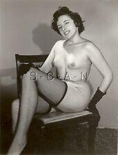 Vintage Original 40s-60s Chair Rp- Court Cheveux- Endowed- Résille Stockings-