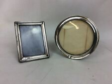 2 X Antique Solid Silver Photo Frames