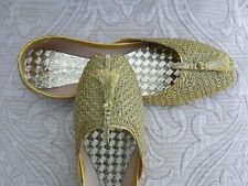 GOLD INDIAN LADIES WEDDING PARTY  KHUSSA SHOES SIZE 5