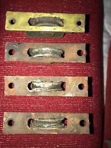 Sash WINDOW PULLEY WEIGHT WHEEL ROLLER VICTORIAN Antique Reclaim BRASS  4 Avail