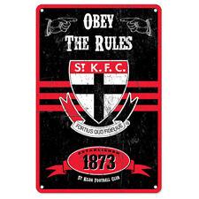 AFL St Kilda Retro Tin Sign