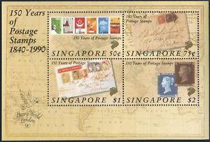 Singapore 566a sheet,MNH.Michel Bl.24. Penny Black,150.LONDON-1990.