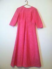 Vtg 70s PINK lace Hippie Boho 3/4 Sleeve GYPSY Festival Maxi Dress vintage Boho