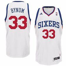 NBA Trikot PHILADELPHIA 76ERS SIXERS Bynum Jersey Revolution Swingman weiß