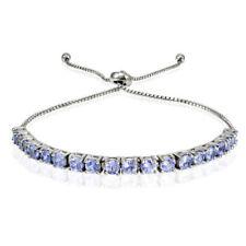 Armbänder mit Edelsteinen echten Tansanit aus Sterlingsilber für Damen