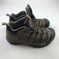 KEEN Mens Targhee Hiking Shoes Boots Brown Waterproof Leather 2008 Low Top 10 M