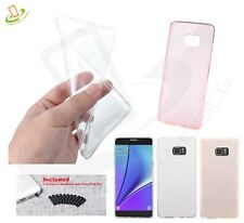 Hybrid Rubber Silicone TPU Clear Case Thin Cover +Plug For Samsung Galaxy Phones