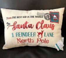 NEW Ashland Christmas Throw Pillow Letter to Santa Home Decor
