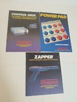 Lot Bundle of Nintendo Entertainment System Zapper Power Pad Manuals Books 1988