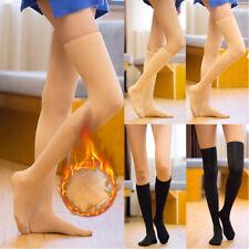 Signore//ragazze sopra il ginocchio Stretch Calzini Plain /& Colori Neon