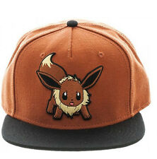 NEW Official Bioworld Pokemon Go Eevee Color Block Embroidered Snapback Cap Hat