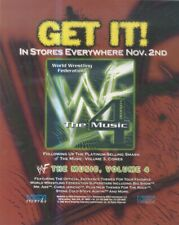 "(HFBK61) ADVERT/POSTER 13X11"" WORLD WRESTLING FEDERATION THE MUSIC VOLUME 4 WWF"