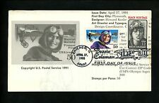 Ranto Cachet US FDC #2956 on C128 Coleman Quimby aviation black heritage 1995