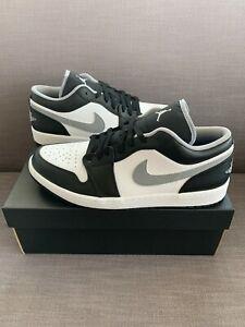 New Nike Air Jordan 1 Low Men's Sneakers Black/White/Gray # 553558-040