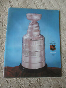 1970 DETROIT RED WINGS vs CHICAGO BLACK HAWKS STANLEY CUP HOCKEY PROGRAM