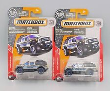 2018 Matchbox Ford F-350 Super Duty Truck (Police) - No. 54 - Silver - Set of 2
