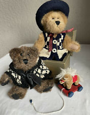 Boyds Bears Lot-Caitlin Berriweather, Giddy-up Stringalong, Archibald McBearlie,