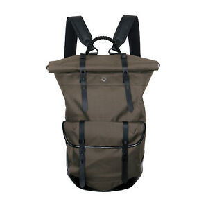 Stighlorgan Ronan Laptop Backpack In Olive green Core D7 with Rolling top