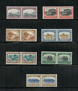 Z891  South Africa  1927/8   Bilingual pairs     MNH