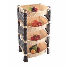 Plástico Rattan HQ 4 Nivel Carrito De Rack de almacenamiento de cocina frutas verduras