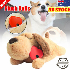 Puppy Toy Heartbeat Anxiety Soft Plush Sleeping Buddy Pet Toy Behavioral Aid*AU
