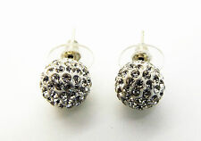 Big Rhinestone Shamballa Czech Crystal Disco Ball Fashion Jewellery Earrings