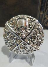 3.31 ozt Hand Poured .999 silver Bullion Round Skull & Bones coin