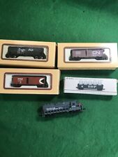 N Scale 5 Mixed Freight Cars Nice Lot  (N3075)