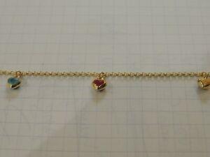 Bracelet or 18 carats maille jaseron et breloques