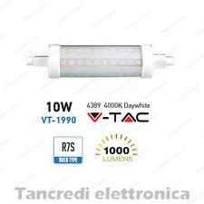 Lampadina led V-TAC 10W = 60W R7S bianco naturale 4000K VT-1990 SMD tubolare