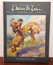 THE PAINTINGS OF J ALLEN ST JOHN Grand Master of Fantasy hcdj PULP ART Korshak