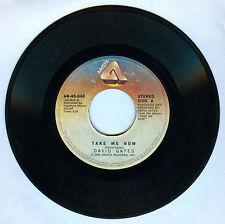 Philippines DAVID GATES Take Me Now 45 rpm Record