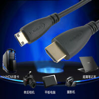 Premium Gold Plated HDMI Male To Mini HDMI Cable Adapter For DV HDTV 1080P