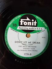"78 giri The Mills Brothers ""Pretty Butterfly / Don't Let Me Dream"" Fonit 1770"