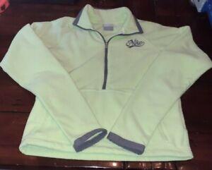 Nike Women's Half Zip Fleece Long Sleeve Pullover Top Size S (Petite)