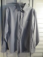 Mens Armani Collezioni Striped BLUE/White Slim Fit Dress Shirt 39/15.5