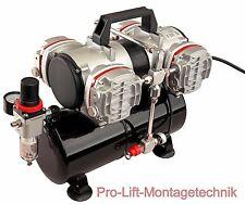 4 Zyl. Airbrush Kolben- Kompressor AS-48A Druckminderer 4 Liter Lufttank  01765