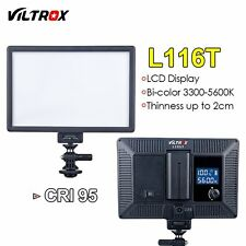 Viltrox L116T Camera LED Video Light slim Bi-Color & Dimmable DSLR Studio Lamp